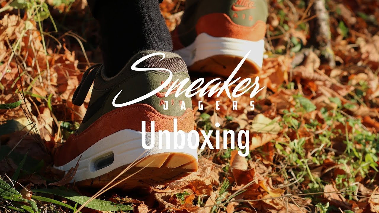 new styles d6eea e074c Unboxing Nike Air Max 1 Olive Canvas
