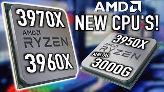 AMD Announces 4 New CPUs For Q4 2019
