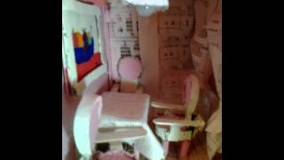 Cardboard Doll House Dining Room Finished