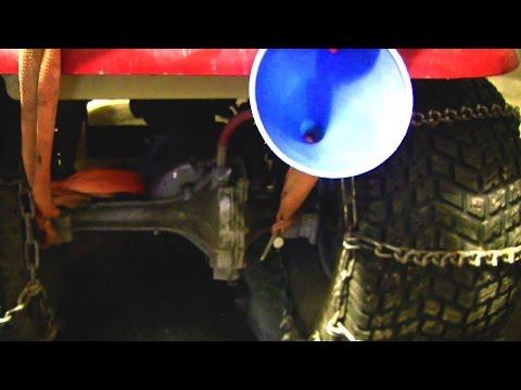 Hydrostatic Transmission Drain Plug Install/Fluid Change