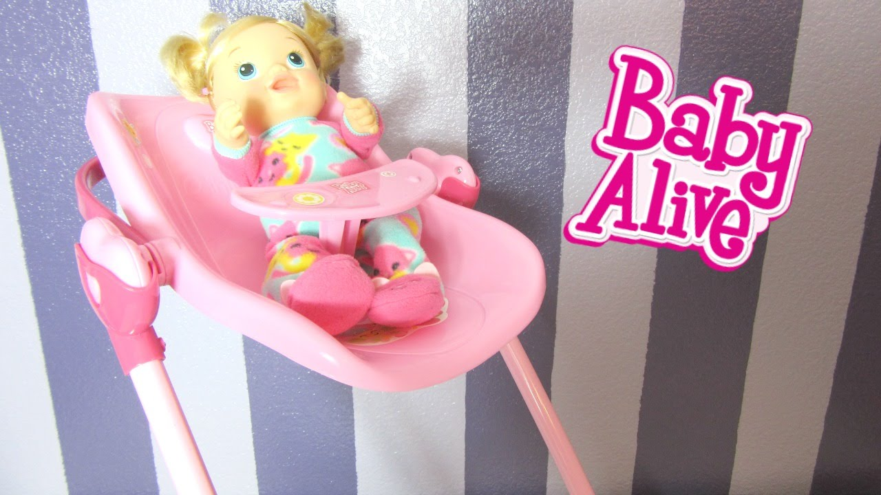 baby swing chair youtube folding rental vancouver alive 3 in 1 doll play set with tickles n cuddles feeding! car seat, high & ...