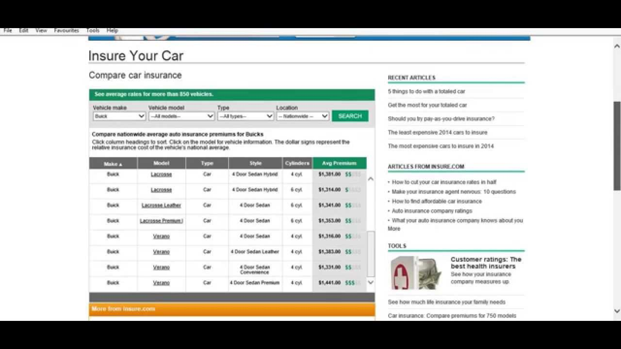 Build your own car insurance premium calculator and buy cheap ...