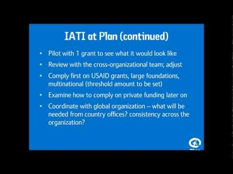 NGO Experiences Implementing the International Aid Transparency Initiative (IATI)
