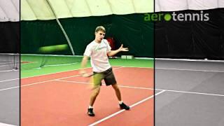 Теннис. Удар слева слёта