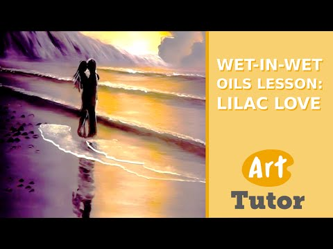 Wet-in-Wet Oils Lesson: Lilac Love