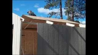 Building The 10x10  Shed  Kit / Chicken Coop Part # 2 From  (home Depot)