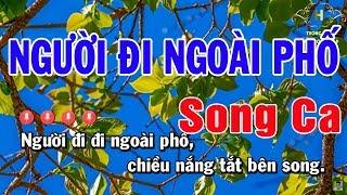 Karaoke Người Đi Ngoài Phố Song Ca Nhạc Sống | Trọng Hiếu