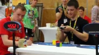 5x5 cube world record average: 49.32 Feliks Zemdegs
