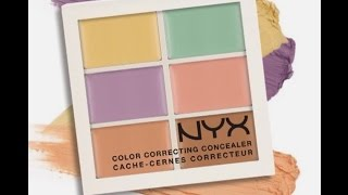NYX Color Corrector Concealer Palette - Watch me cover my spots!!!!