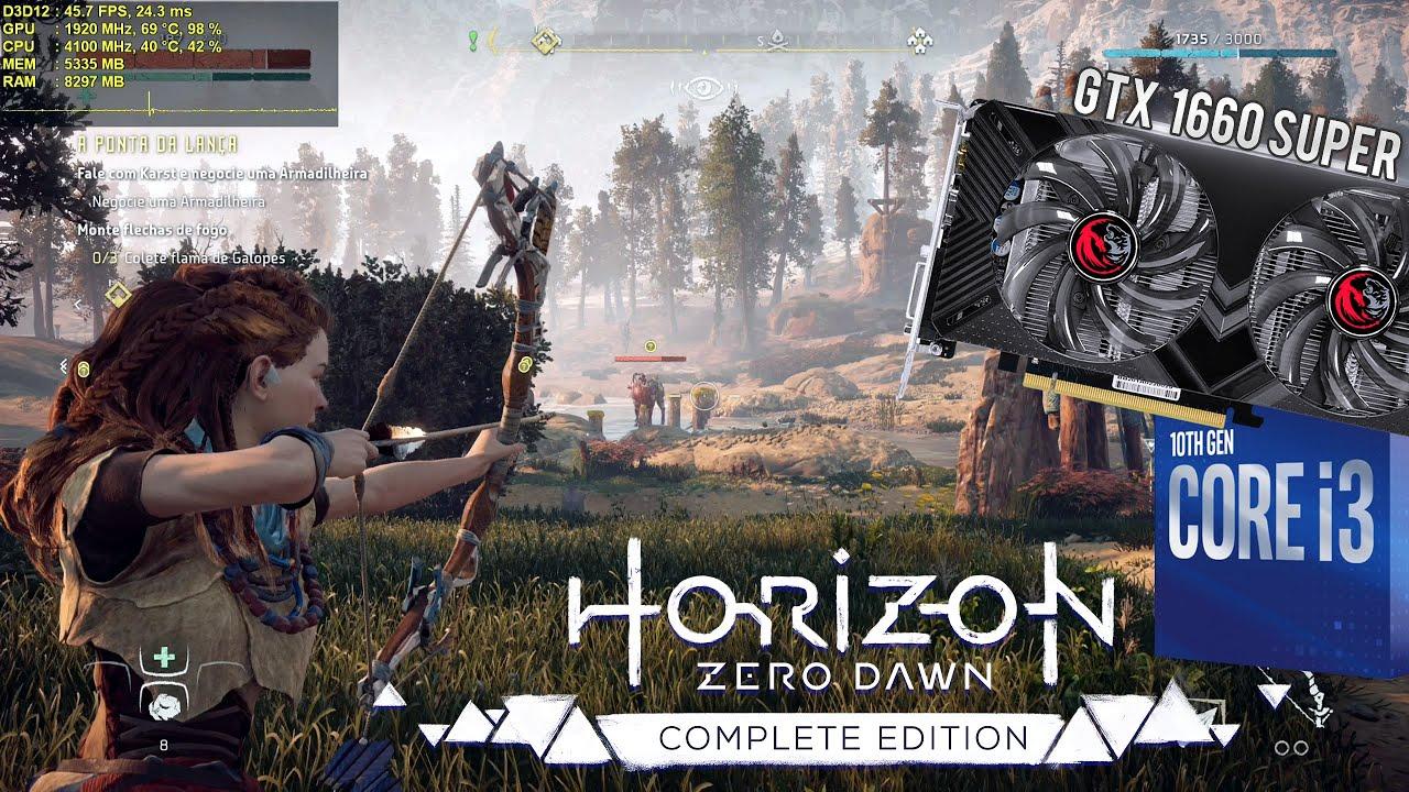 Teste Horizon Zero Dawn PC com GTX 1660 Super 6GB - Rodando no Supremo / Ultra 1080p e 1440p Alto