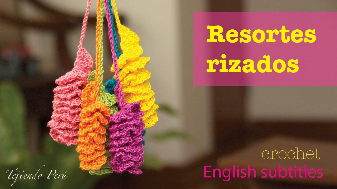 Resortes con borde rizado tejidos a crochet! English subtitles ...