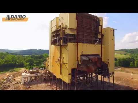 Adamo implodes former AEP Muskingum Unit 5 Boiler