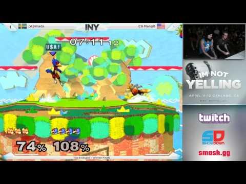 INY Day 2 - Singles: Top 8 - Winner Finals: [A]rmada (Fox) vs C9 Mang0 (Falco)