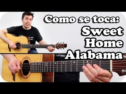 Como tocar SWEET HOME ALABAMA en guitarra acústica TUTORIAL SUPER FACIL en español