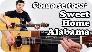 Como tocar SWEET HOME ALABAMA en guitarra acústica TUTORIAL SUPER FACIL en español