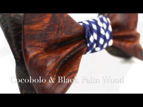 The Maxwell Robel - Cocobolo and Black Palm Wooden Bow Tie