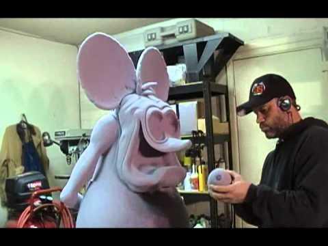 Odd Rodney sculpts Rat Fink  Episode 2