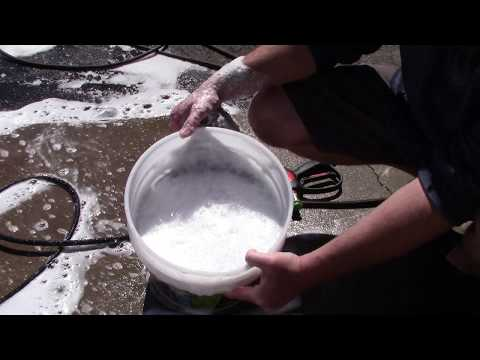 Cool Trick With Car Soap - More Suds & Lubrication!!