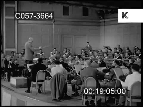 1950s Orchestra Recording Session