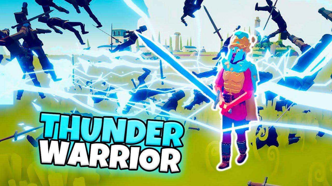THUNDER WARRIOR VS EVERY FACTION | TABS MODDED GAMEPLAY