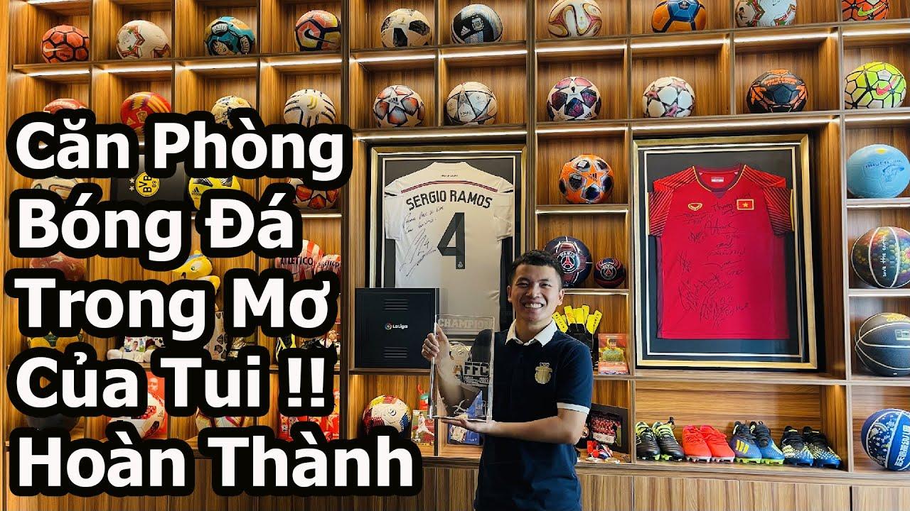 Thăm Nhà Đỗ Kim Phúc ngắm căn phòng bóng đá mới với áo đấu ĐT Việt Nam và bộ sưu tập Football xịn xò