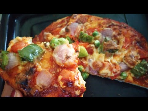 How to make dominos burst pizza at home without using yeast!🍕 बिना यीस्ट घर पर पिज़्ज़ा कैसे बनाएं?
