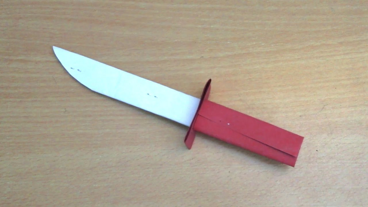 How to make a paper folding knife