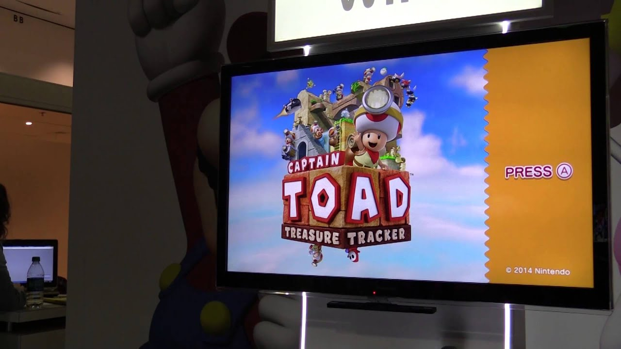 Captain Toad Treasure Tracker Title Screen E3 2014