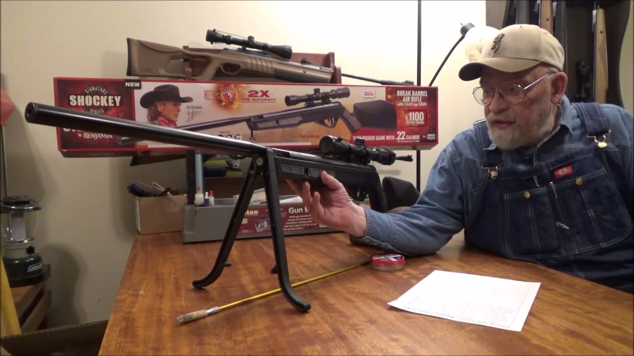 Benjamin NP2 Jim Shockey Steel Eagle  22 Cal Pellet Rifle Review