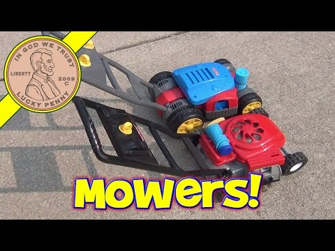 Fisher-Price Bubble Mower XLT & Vintage Toy Bubble Lawn Mower