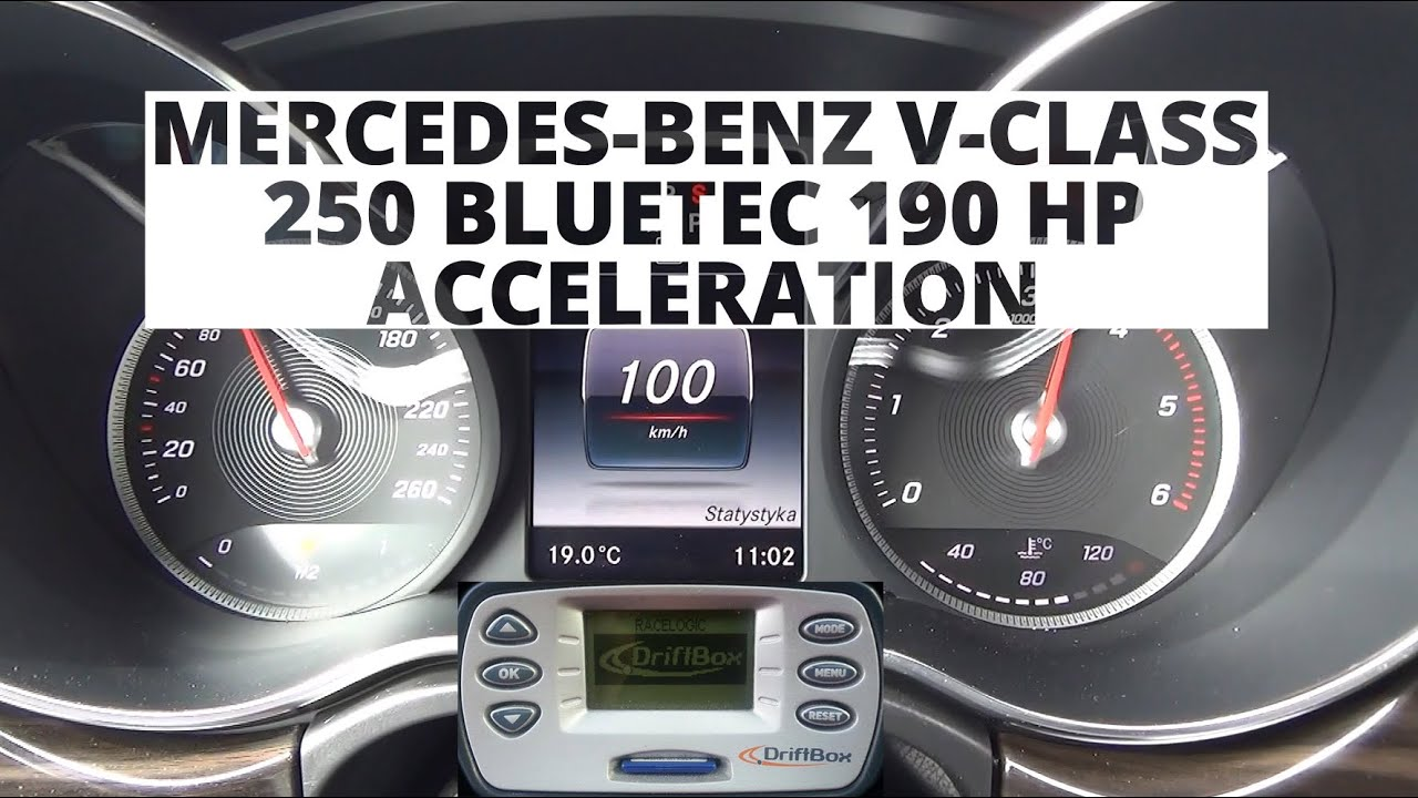 mercedes benz v 250 bluetec 190 hp acceleration 0 100 km h youtube rh youtube com