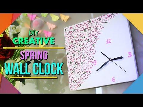 DIY Spring Wall Clock: Home Decor