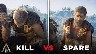 Kill vs Spare Nikolaos (ALL CHOICES) - Assassin's Creed Odyssey