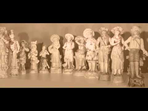 Exquisite German bisque Porcelain Antique Figurines For Sale