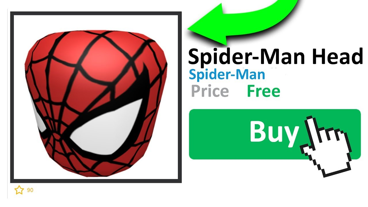 How To Get The Spiderman Head In Roblox Youtube