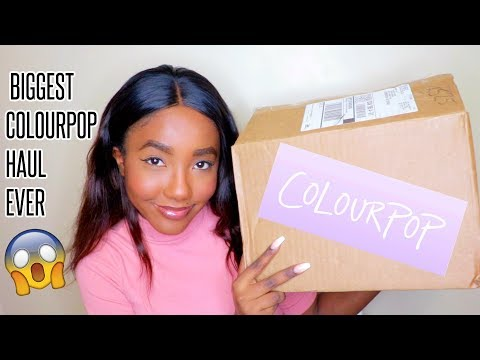 MASSIVE HOLIDAY COLOURPOP HAUL & SWATCHES! AFFORDABLE MAKEUP WOC FRIENDLY