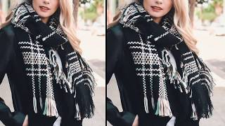 Latest Most Stylish Blanket And Infinity Scarf Winter Collection 2018
