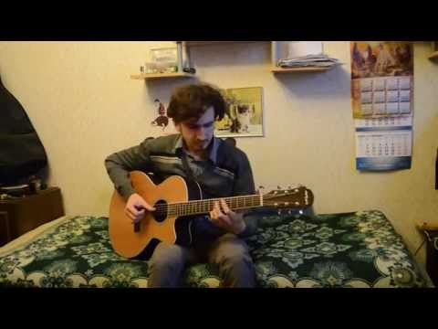 Radioactive (Imagine Dragons baritone guitar fingerstyle cover) - Vectarrio