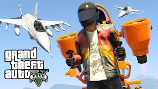 JETPACKS vs FIGHTER JETS!! (NEW GTA 5 DLC UPDATE)