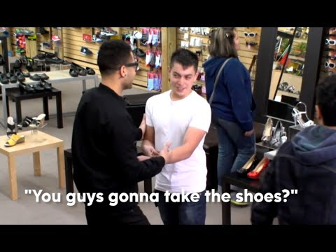 Teens Steal Shoes From Store | What Would You Do? STRAIGHT SURVEILLANCE