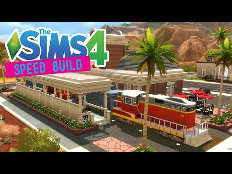 The Sims 4 -Speed Build- Train Station! (Bar Venue) - No CC -