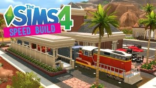the sims 4 speed build train station bar venue no cc