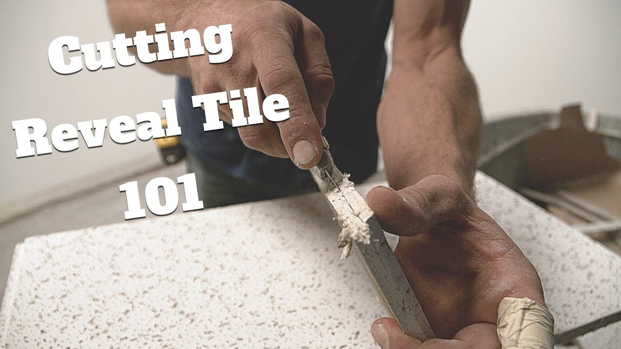 how to cut reveal ceiling tile borders