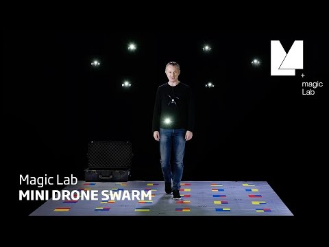 This magician can effortlessly control 8 drones at once — or can he?
