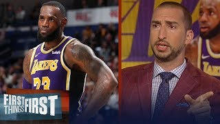 Nick Wright on LeBron frustrated with Lakers after 9th loss in 13 games | NBA | FIRST THINGS FIRST