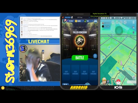 Pokemon GO - By iSpoofer & iTools Dual Screen Madness 4 JWA and Pokemon GO  - 08-01-18 by nVs StOrM3