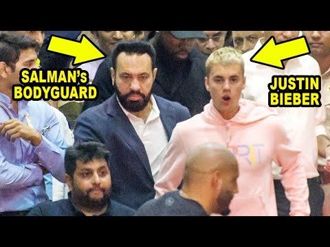 Salman Khan Sends Personal Bodyguard For Justin Bieber At Mumbai Airport