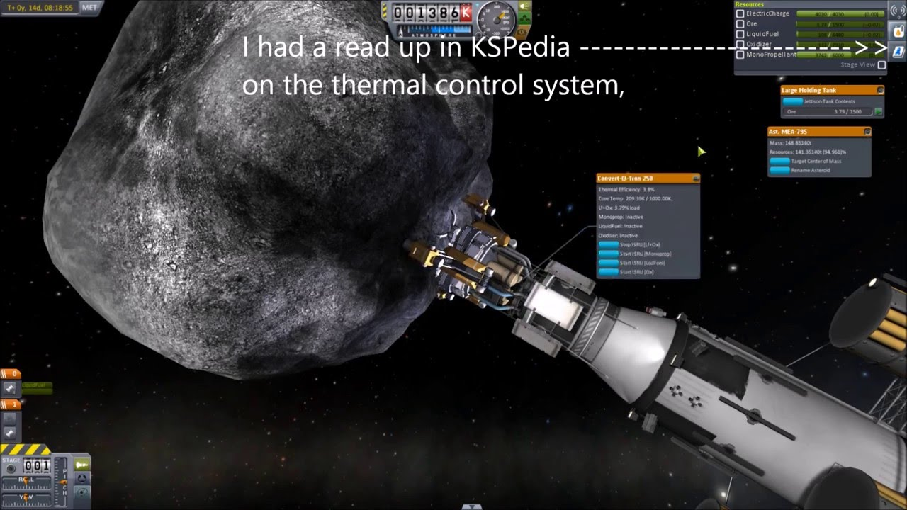 Kerbal Space Program 1.1 Asteroid capture and mining pt2 ...