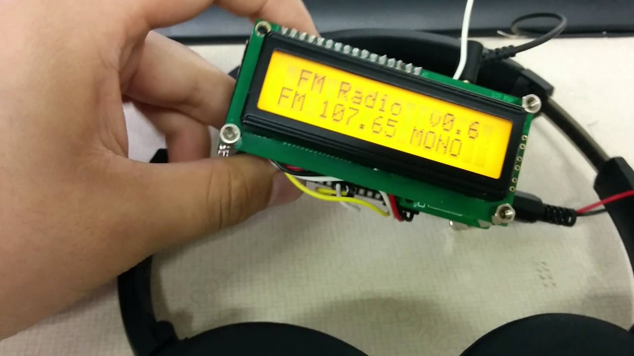 RDA5807 FM Radio using Arduino Mini