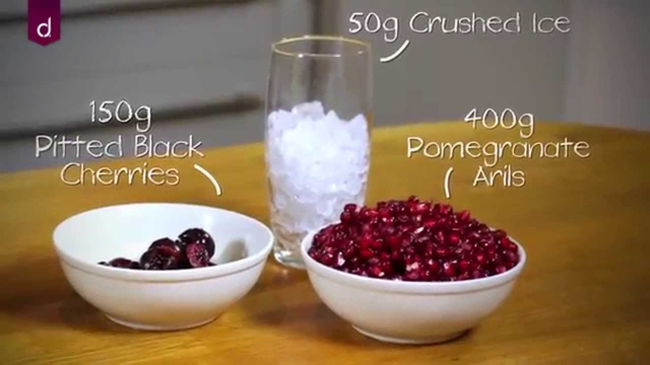 Slow Juicer Pulp Recipes - Pomegranate Black Cherry Juice by Andrew James - YouTube